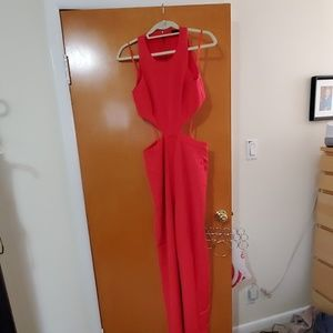 Bcbg jumpsuit in coral